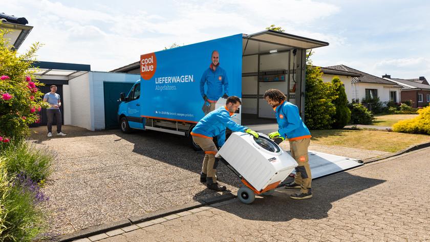 Coolblue Lieferung von Haushaltsgroßgeräten in Deutschland