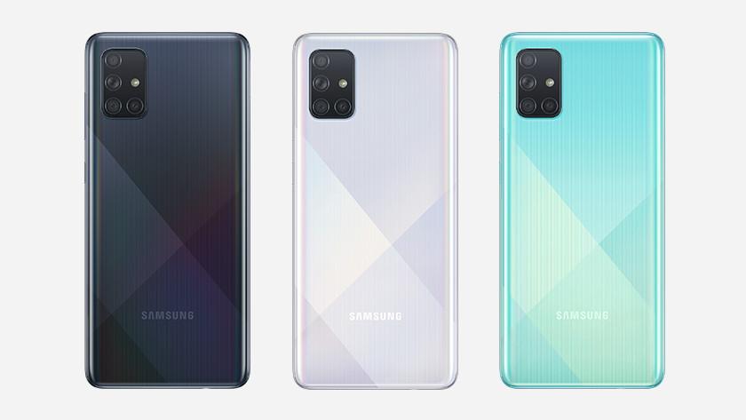 Samsung Galaxy A71 line up geheugen