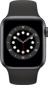 Apple Watch Series 6 40mm Space Grau Aluminium Schwarzes Sportarmband