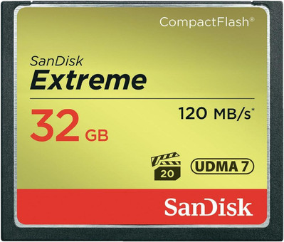 Sandisk CF Extreme, 32 GB, 120 MB/s