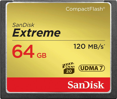Sandisk CF Extreme, 64 GB, 120 MB/s