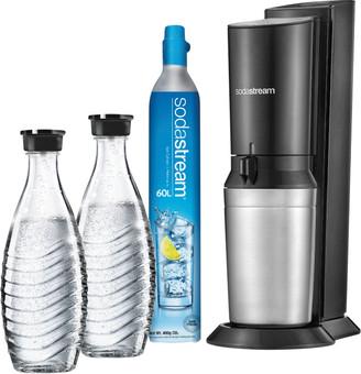 SodaStream Crystal Megapack Schwarz + 2 Karaffen