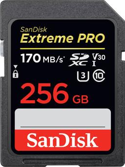 SanDisk SDXC Extreme Pro, 256 GB, 170 MB/s