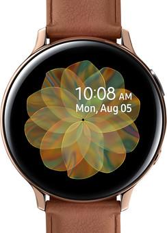 Samsung Galaxy Watch Active2 Gold/Braun 44 mm Edelstahl