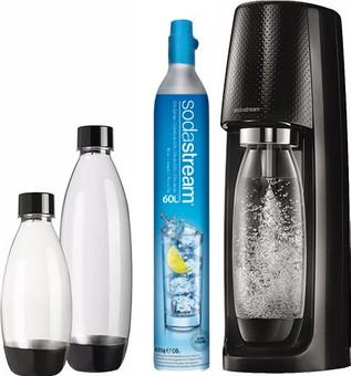 SodaStream Spirit Schwarz + 3 Flaschen