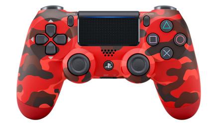 Sony DualShock 4 Controller PS4 V2, Rot-Tarnfarbe