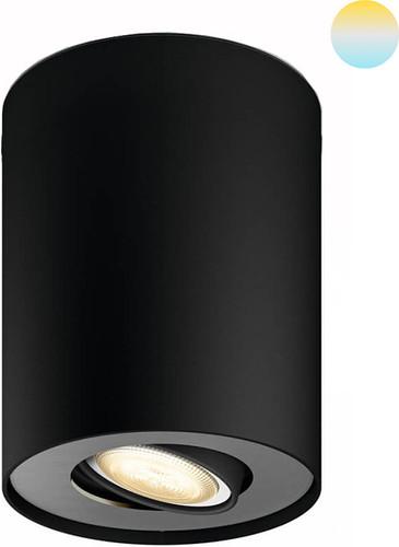Philips Hue Pillar oberflächenmontierter Spot White Ambiance 1er-Spot Schwarz Main Image