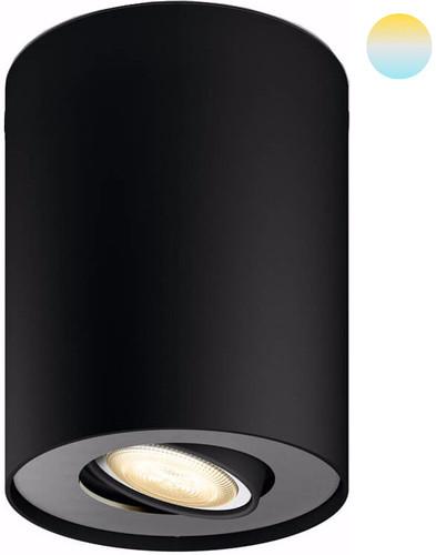 Philips Hue Pillar oberflächenmontierter Spot White Ambiance 1er-Spot Schwarz + Dimmer Main Image