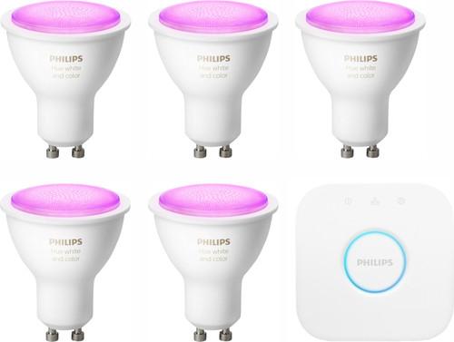 Philips Hue White & Colour Starterpaket GU10 - 5 Lampen Main Image