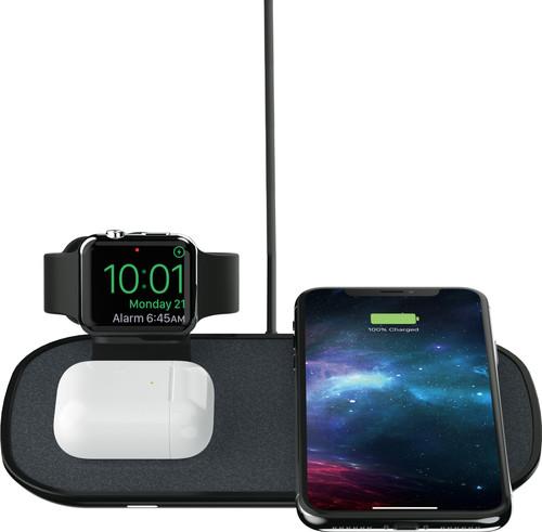 Mophie 3-in-1 kabelloses Ladegerät 7,5 W mit Apple Watch Ständer Schwarz Main Image