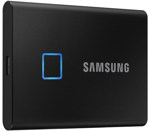 Samsung Touch Portable SSD T7, 500 GB, Schwarz Main Image
