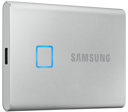 Samsung T7 Touch Portable SSD, 1 TB, Silber Main Image