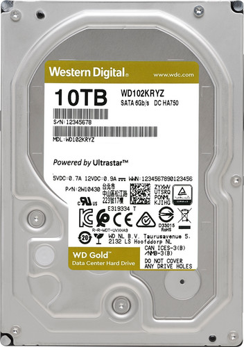 WD Gold WD102KRYZ 10 TB Main Image