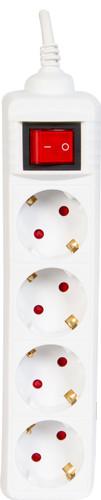 Veripart Steckdosenleiste 4-fach 3 Meter Weiß Main Image