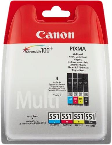 Canon CLI-551 Patronen Kombipack Main Image