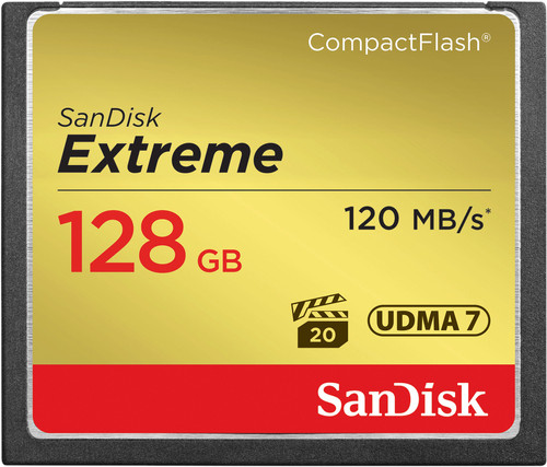 Sandisk CF Extreme, 128 GB, 120 MB/s Main Image
