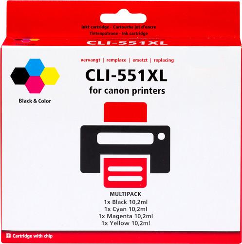 Pixeljet CLI-551XL Cartridges Combo Pack Main Image