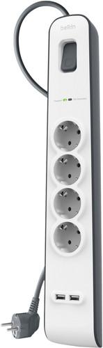 Belkin Surge Protector 4 Steckdosen 2 Meter 2x USB Main Image