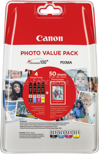 Canon CLI-551 Value Pack Main Image