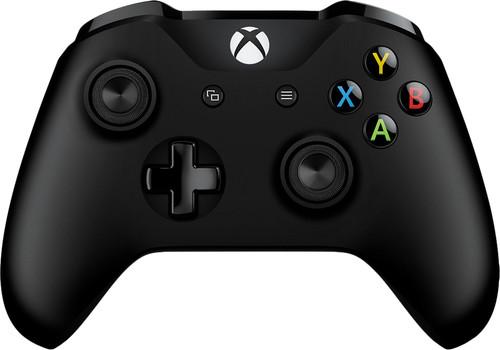 Microsoft Xbox One kabelloser Controller in Schwarz + Kabel Main Image