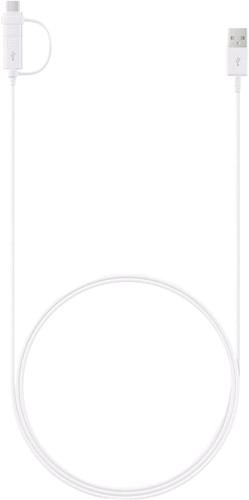Samsung 2-in-1 USB-A auf USB-C/Micro-USB-Kabel 1,5m Kunststoff Weiß Main Image