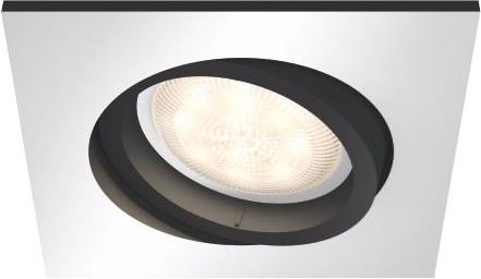 Philips Hue Milliskin Einbauspot White Ambiance Aluminium - quadratisch Main Image