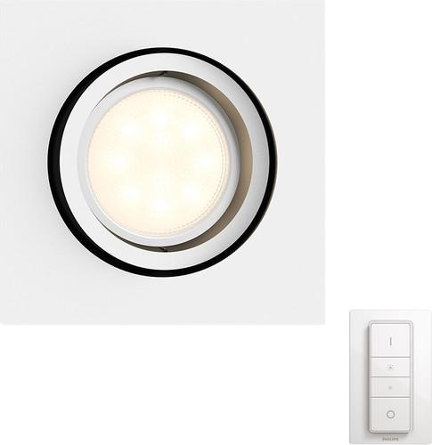 Philips Hue Milliskin Quadrat Weiß mit Dimmschalter Main Image