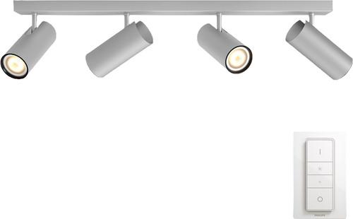 Philips Hue Buratto 4-Spot Grau mit Dimmer Main Image