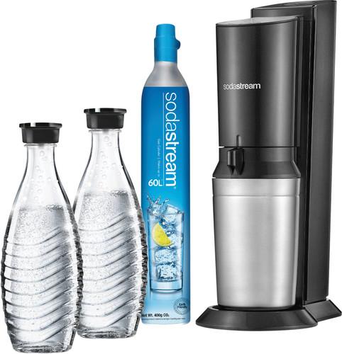 SodaStream Crystal Megapack Schwarz + 2 Karaffen Main Image