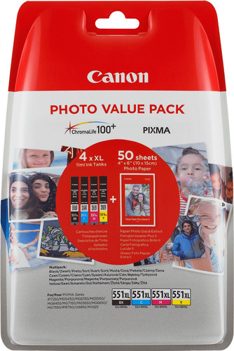 Canon CLI-551XL Patronen Kombipack Main Image