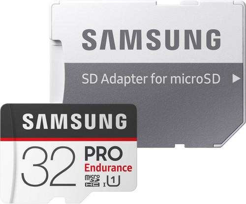 Samsung microSDHC PRO Endurance, 32 GB, 100 MB/s + SD-Adapter Main Image