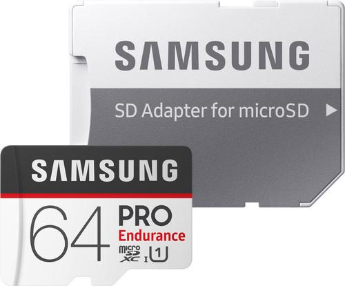 Samsung microSDXC PRO Endurance, 64 GB, 100 MB/s + SD-Adapter Main Image