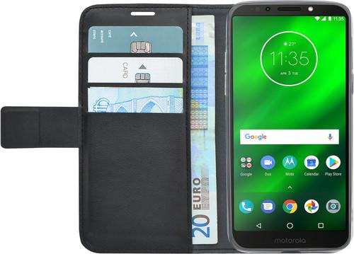 Azuri Brieftasche Magnet Motorola Moto G6 Play Book Case Schwarz Main Image