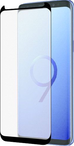 Azuri gebogenes gehärtetes Glas Samsung Galaxy S9 Plus Displayschutzfolie Schwarz Main Image