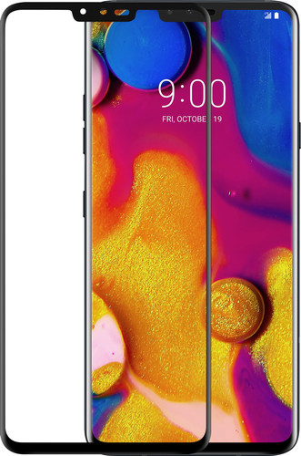 Azuri gehärtetes Glas LG V40 Displayschutzglas Schwarz Main Image
