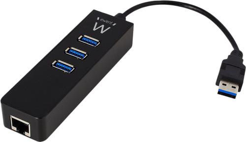 Ewent 3 Ports Usb-A 3.0 Hub Mit Gigabit Ethernet Main Image