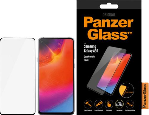 PanzerGlass Fall freundlich Samsung Galaxy A80 Displayschutzglas Schwarz Main Image