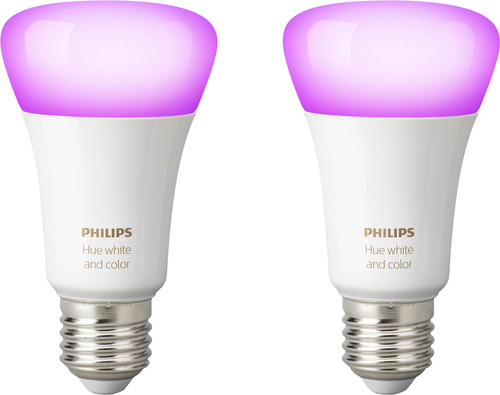 Philips Hue White & Color E27 Bluetooth Duo Pack Main Image