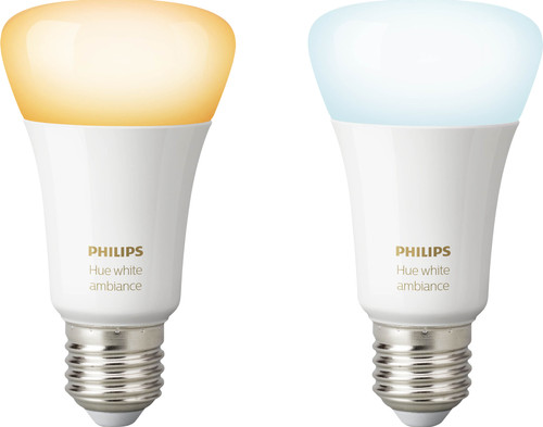 Philips Hue White Ambiance E27 Bluetooth Duo Pack Main Image