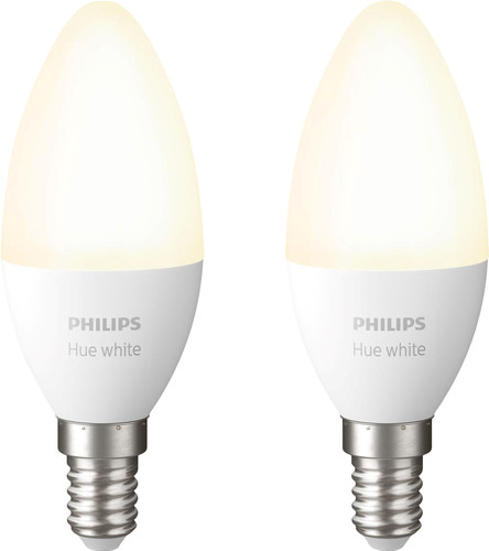 Philips Hue Kerzenlampe Weiß E14 Bluetooth Duo Pack Main Image