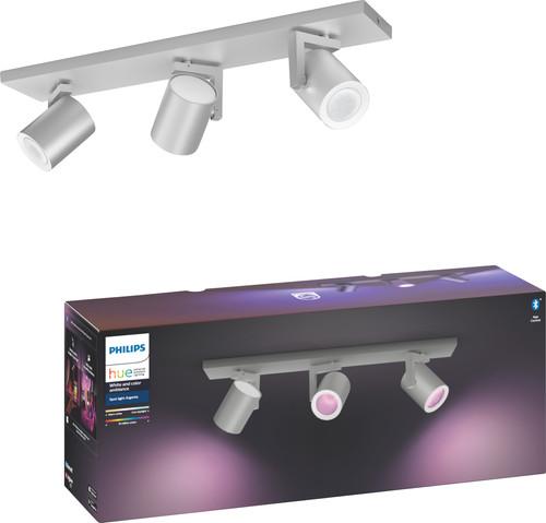 Philips Hue Argenta 3 Spots Weiß- & Farblicht Aluminium Main Image