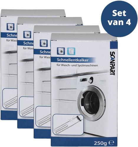 Scanpart Entkalker für Geschirrspüler und Waschmaschine 4 Stück Main Image