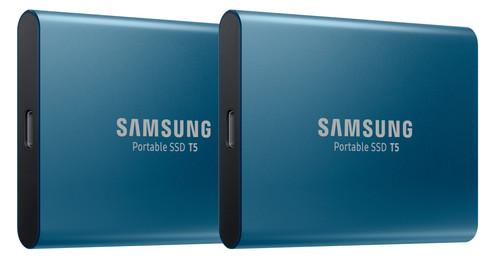 Samsung Portable SSD T5, 500 GB Duo-Pack Blau Main Image