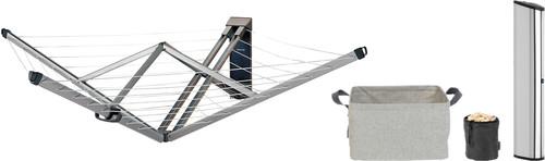 Brabantia Wandwäschetrockner mit Schutzbox + Wäschekorb + Wäscheklammerntasche Main Image