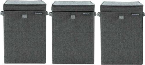 Brabantia 3 Wäscheboxen 35 Liter - Pepper Black Main Image