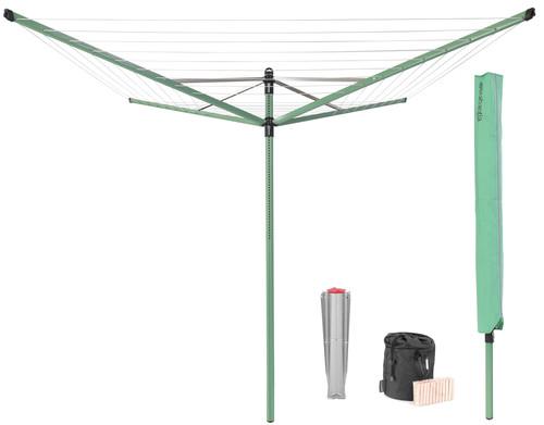 Brabantia Wäschespinne Lift-O-Matic 50 Meter + Schutzhülle + Wäscheklammerntasche + Wäsche Main Image