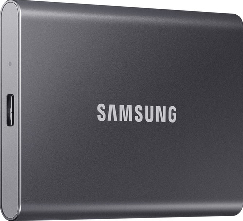 Samsung T7 Portable SSD, 1 TB, Grau Main Image
