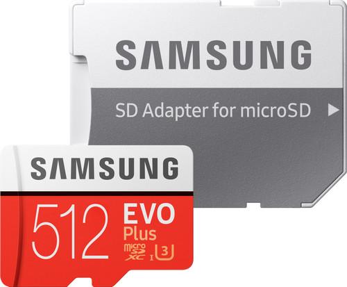 Samsung microSDXC EVO+, 512 GB, 100 MB/s, CL 10 + SD-Adapter Main Image