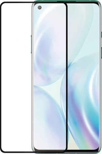 Azuri Rinox Fall freundlich OnePlus 8 Displayschutzglas Black Edge Main Image