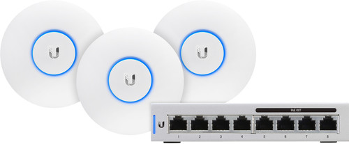 Ubiquiti UniFi AP-AC-LITE 3er-Pack + Switch 8-60W Main Image